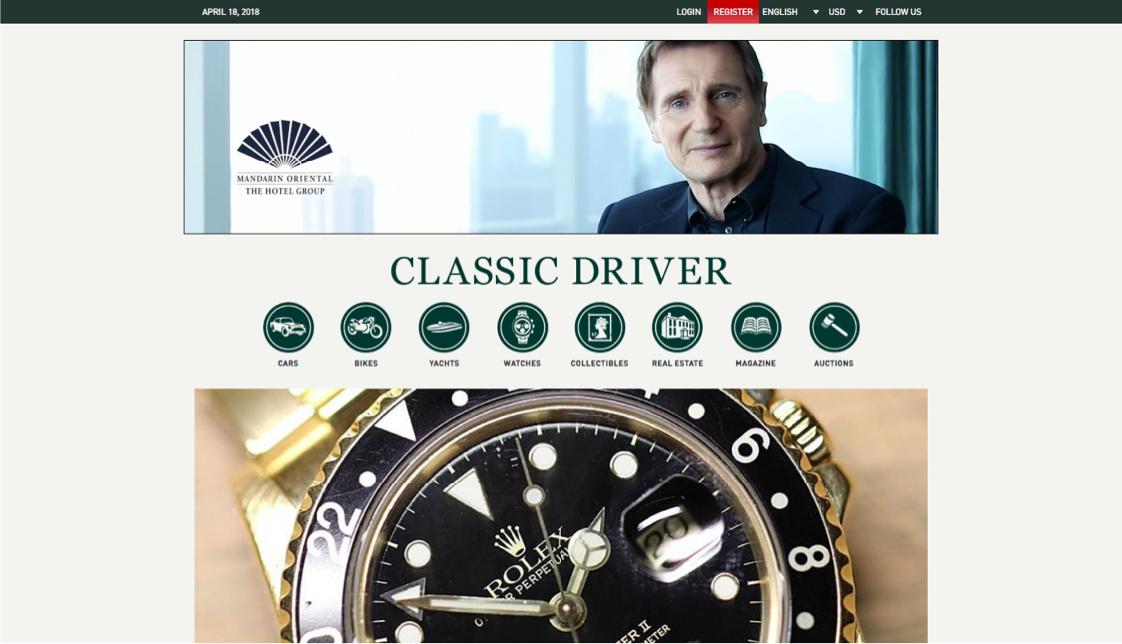Select Media - Classic Driver - Mandarin Oriental